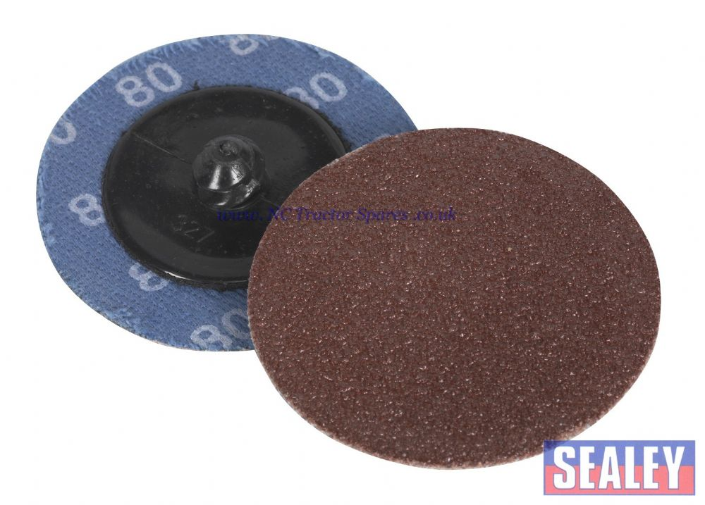 Quick Change Sanding Disc 50mm 80Grit Pack of 10